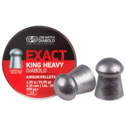 JSB Diabolo Exact King Heavy .25 Cal, 33.95 gr - 300 ct