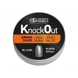 JSB KnockOut Slugs, .217 Cal, 25.39 gr - 200ct